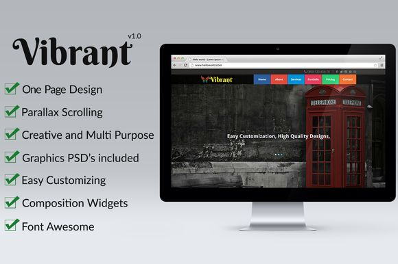 Check out Vibrant - OnePage Parallax Muse Temp by Nakshatra on Creative Market