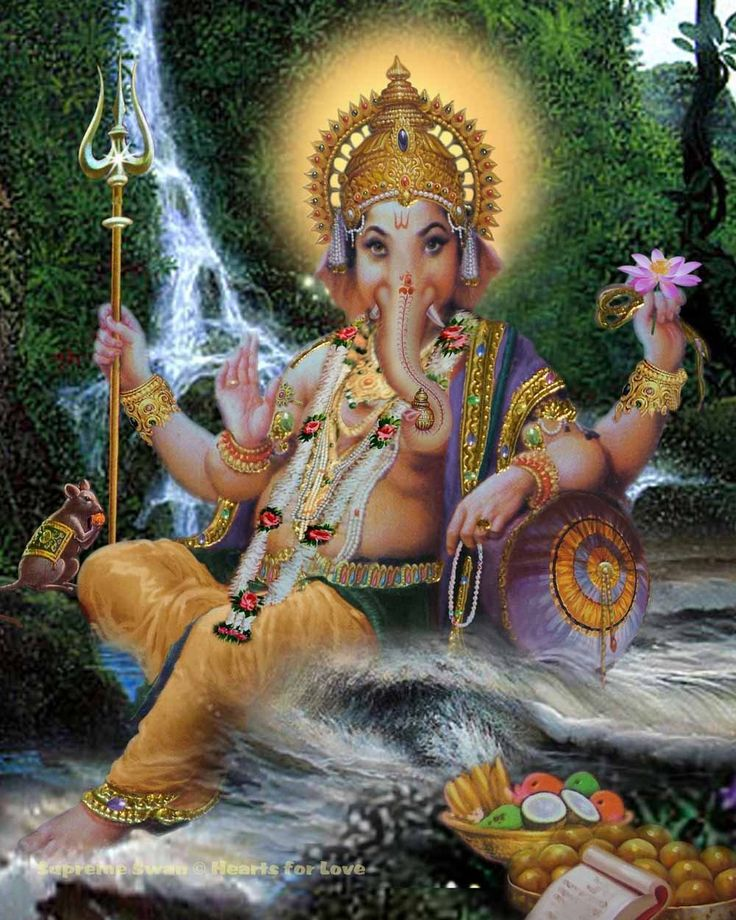 A fine art print of Lord Ganesha, remover of obstacles. He is also known as Ganapati.