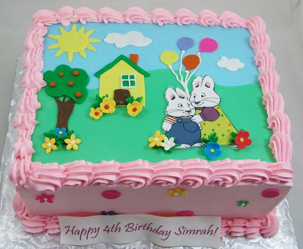 Buttercream Finished Max And Ruby Cake Maxandrubycake