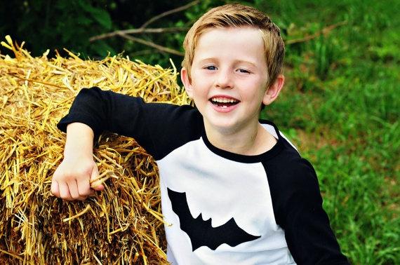 bat - baby toddler girls boys applique halloween shirt - batman. $20.00, via Etsy.
