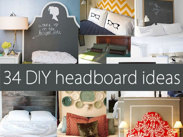 headboardsGuest Room, Decor Ideas, 34 Diy, Diy Furniture Decor, Headboards Ideas, Head Boards, Diy Headboards, Diy Decor For Bedrooms, Diy Projects