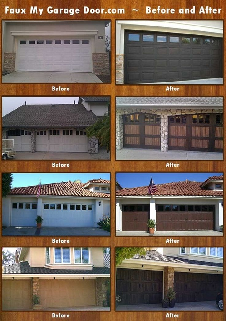 Fauxmygaragedoor Com Before And After Wood Grained Garage
