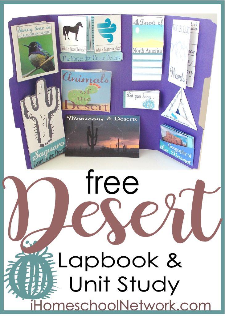 Free Desert Homeschool Unit Study and Lapbook @ iHomeschool Network
