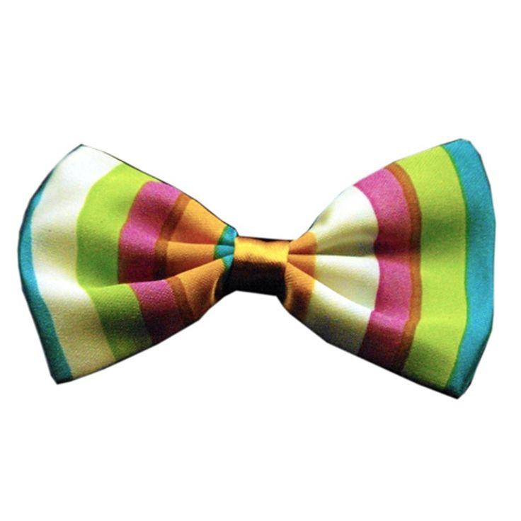 Funky Stripes Dog Bow Tie