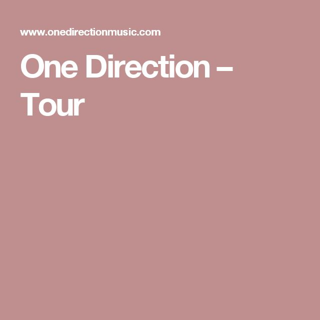 One Direction – Tour
