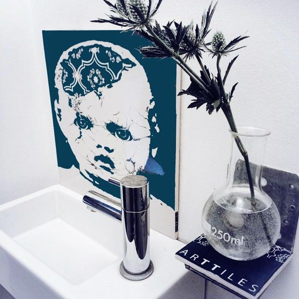 Lucy would have loved you. Hand decorated porcelain board from ARTTILES.   Hang the the porcelain board on your wall, or use it on your table as a tray for snacks or small exhibitions of personal still life. Self adhesive picture hooks for hanging can be bought here. Little Lucy also does well as a backsplash behind the bathroom sink and fits perfectly in those small Copenhagen toilet spaces.    www.arttiles.dk