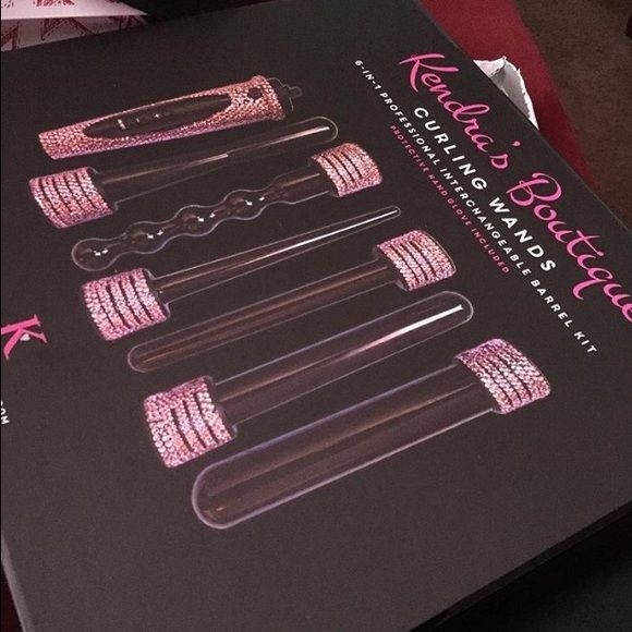 Pink Bling Wand Curler Wand curler with different size wands Other