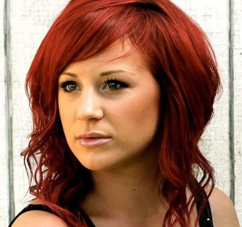 Jen Ledger.  She is so talented! Plays drums and sings for Skillet. I love her hair color too!! She is so beautiful!