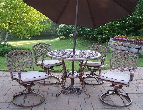 mississippi 7 pc round patio dining set by oakland living