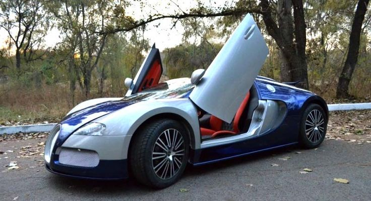 bugatti veyron replica with lamborghini doors bugatti. Black Bedroom Furniture Sets. Home Design Ideas