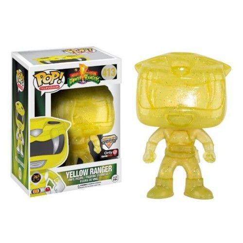 Funko Pop! Yellow Ranger Morphin, Gamestop Exclusive, Power Rangers Movie, Funkomania, Séries