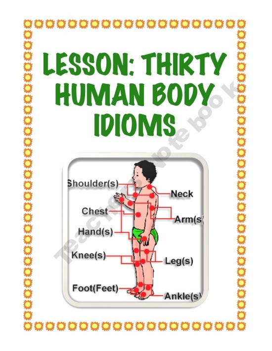 Lesson: Thirty Human Body Idioms: Middle School, Humanbody, Schools, Fun, Thirty Human, Human Body, Body Idioms