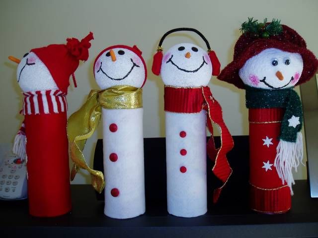 pringles snowmen by rosebudinnh - Cards and Paper Crafts at Splitcoaststampers