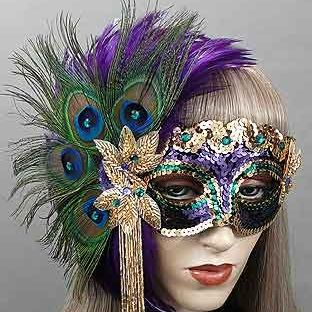 BedazzledMardi GrasMasquerade Mask Thumb