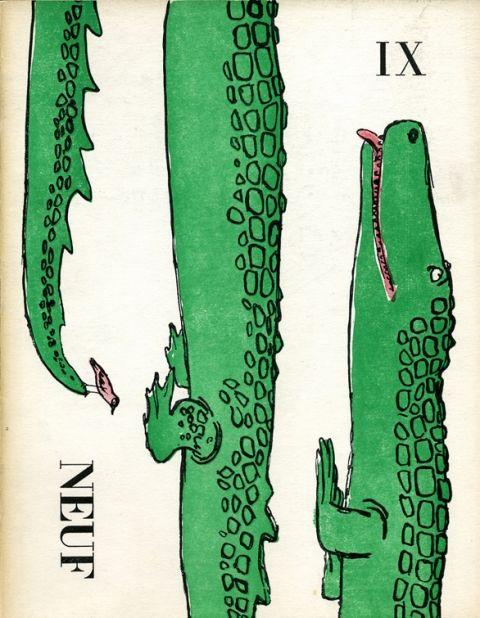Couverture du neuvième numéro de Neuf, dessin André François