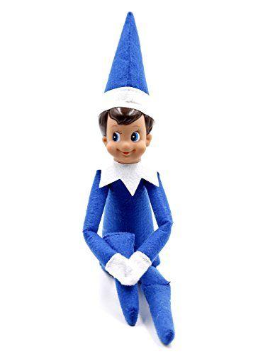 Miraise Christmas Elf on Shelf Toy Plush Dolls Boy and Girl Decorations (royal blue)