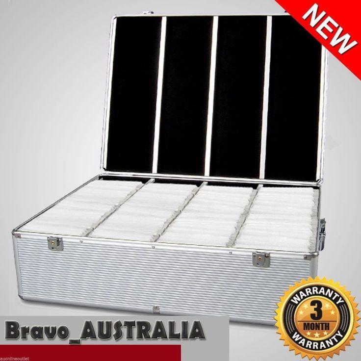 New Aluminium CD DVD Bluray Storage Case Box 1000 Discs Lockable w/ 2 keys DJ