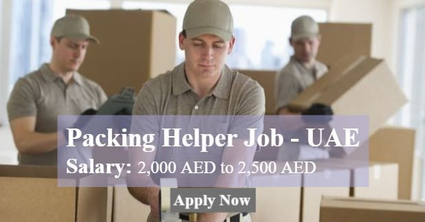 Job Summary: We are looking for packing helper  A leading packing