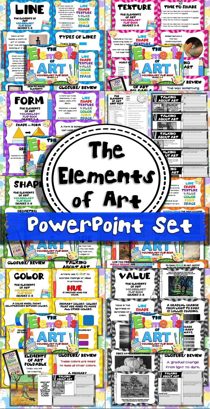 Great way to introduce The Elements of Art! Scripted PowerPoint for every element. This will be my first lesson of the school year. Easy!