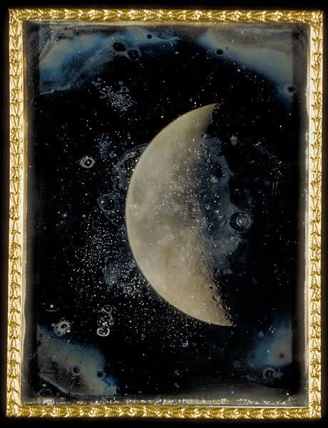 John Adams Whipple, View of the Moon, Feb 26, 1852 (Daguerreotype
