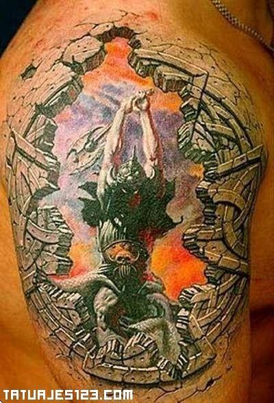 Tatuajes 123 Caballeros Guerrero en 3D