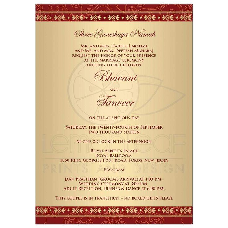 Best 25+ Marriage invitation card format ideas on Pinterest ...