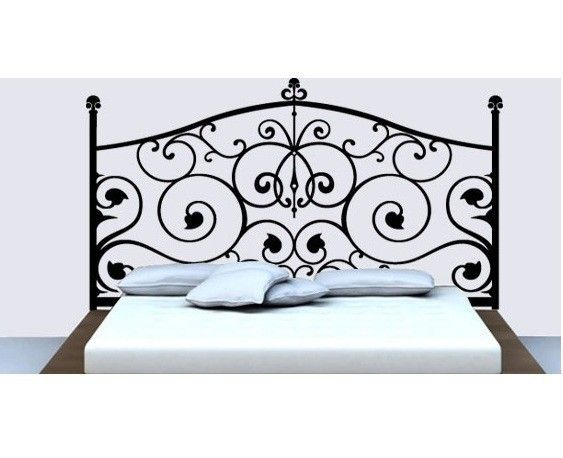 Cheap vinyl headboard wall decal...