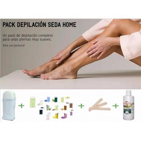 Pack de depilación completo para unas piernas muy suaves, incluyendo calentador de cera, cartucho de cerra, espátula de madera y aceite post depilación. Ideal para el hogar.
