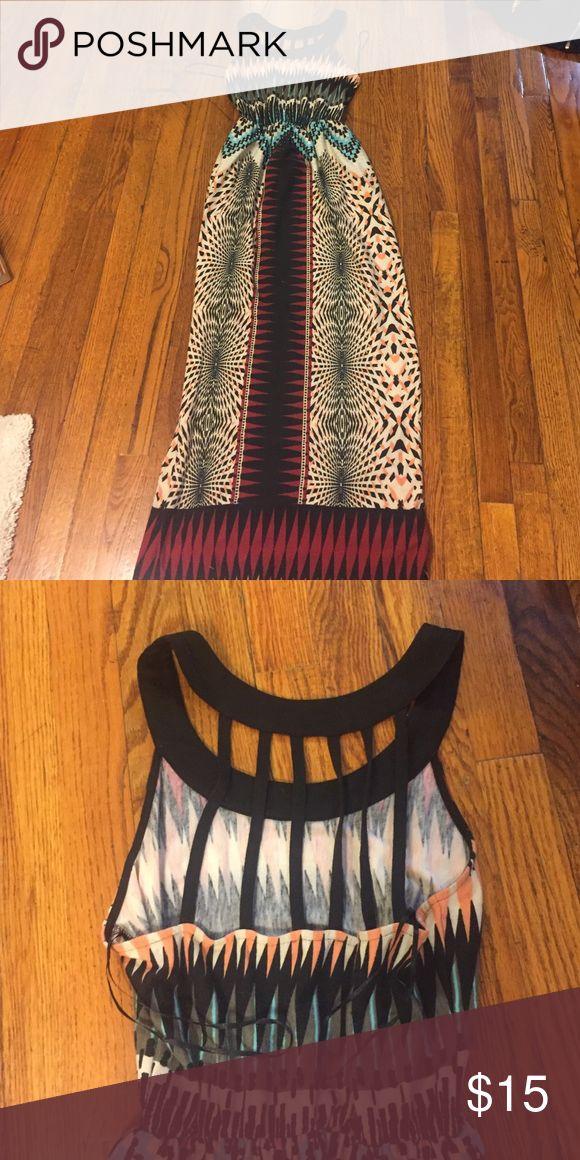 Aztec Maxi Dress, Semi open back Aztec Maxi Dress, Semi open back, Charolette Rousse J. Crew Dresses Maxi