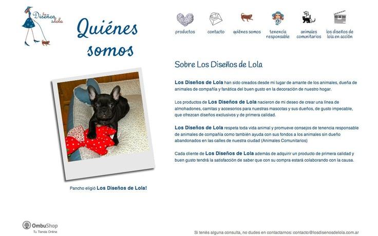 Los Diseños de Lola. Accesorios para tu mascota: www.losdisenosdelola.com.ar/quienes-somos