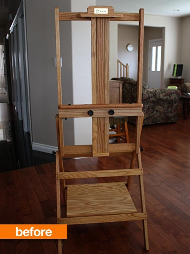 Before & After: Transforming an Artist's Easel into a Media Stand — SZInteriors
