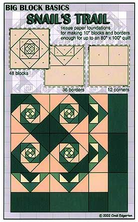 snail trail quilt pattern   Larger Image