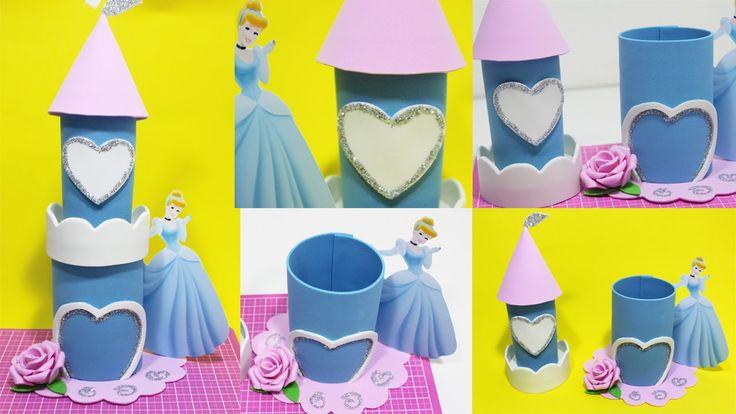Artesanato Eva - Como Fazer Lembrancinha Castelo Princesa Cinderela