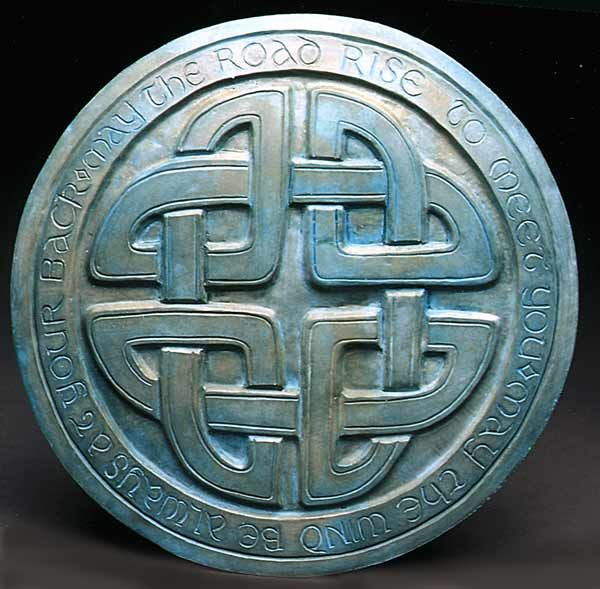 "The Celtic Knot Stepping Stone: ""May the road rise to meet you. May the wind be always at your back."""