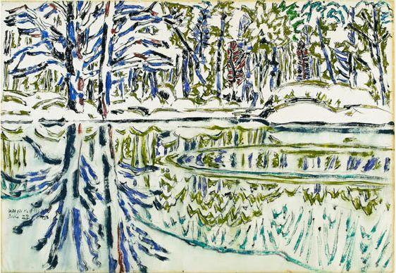 David Milne   Bishops Pond 1916
