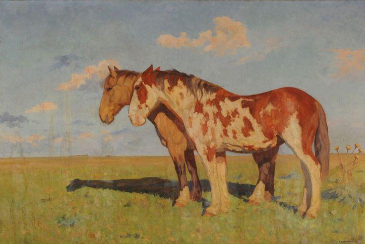 """Luis Adolfo Cordiviola: """"Gato"""" y """"Mancha"""", los caballos criollos que hicieron la travesía desde el sur de Argentina hasta New York."""