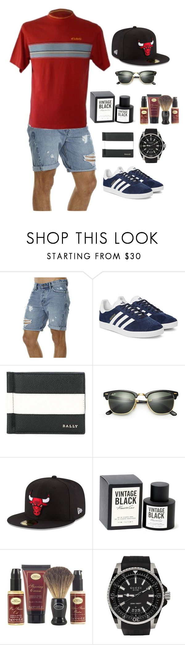 """""""Sunday Session"""" by desertlilyvintage on Polyvore featuring Neuw, adidas Originals, Bally, Ray-Ban, New Era, Kenneth Cole, The Art of Shaving, Gucci, men's fashion and menswear"""