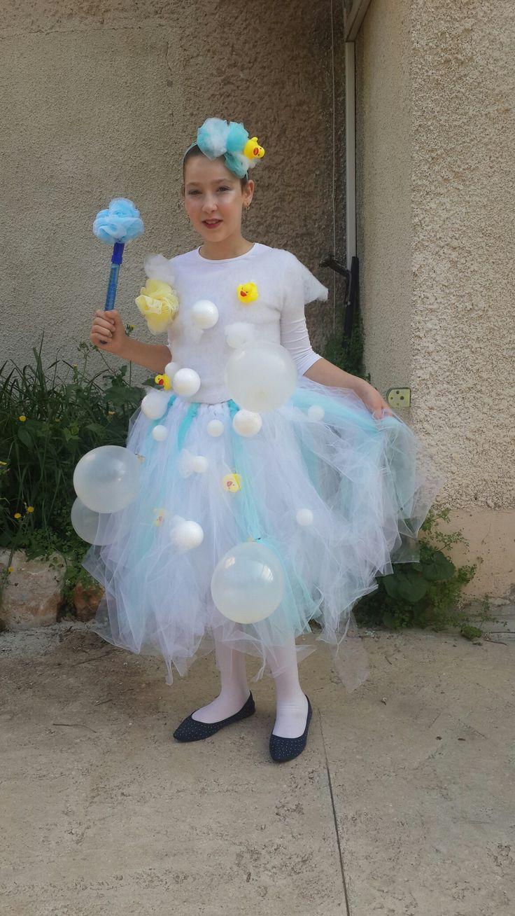 Purim bath bubbles costume