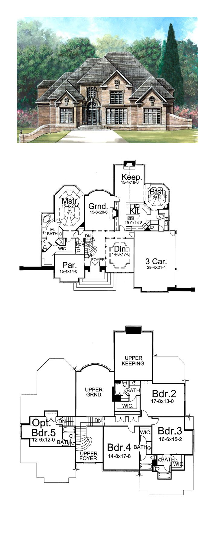 Greek Revival House Plan 72027   Total Living Area: 4195 sq. ft., 4 bedrooms and 4.2 bathrooms. #greekrevivalhome