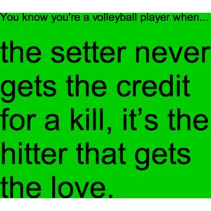 but if the hitter misses its the setters fault