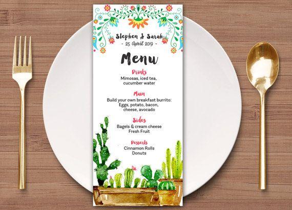 20+ ide Mexican fiesta menu terbaik di Pinterest Hidangan taco - breakfast menu template