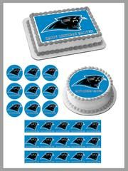 Carolina Panthers Edible Birthday Cake Topper OR Cupcake Topper, Decor #edibleprintsoncake, #ediblecaketopper, #ediblecakeimage,