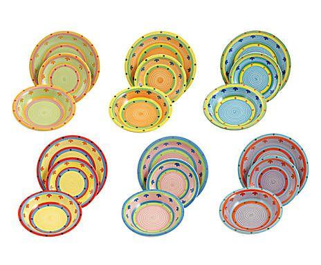 Servizio di piatti in gres Tangeri - 18 pezzi