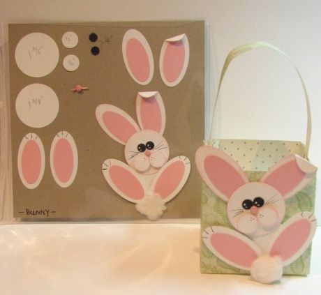 Bunny Basket-I like the bunny.  wonder if I could put it ion a card.