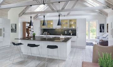 Bella Opengrain White Kitchen - By BA Components