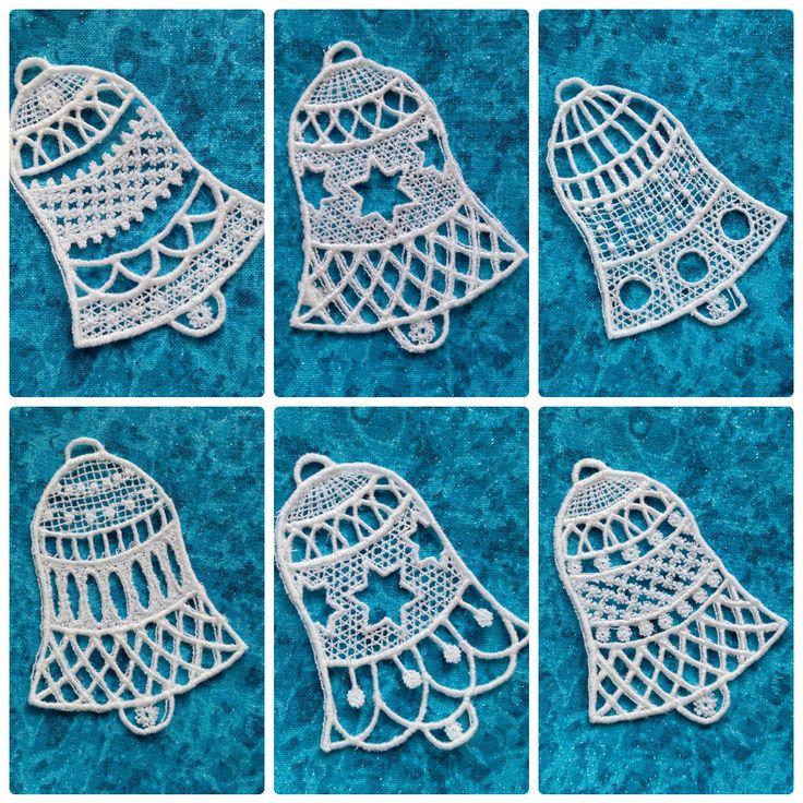 fsl bell embroidery - krajkové zvonky fb: ka.bela boutique