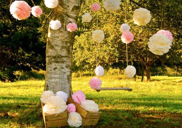 Ideas para decorar un cumple con pompones
