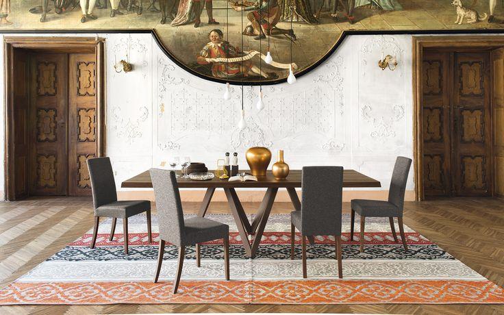 Sedia imbottita Dolcevita realizzata in legno - Calligaris CS/1454