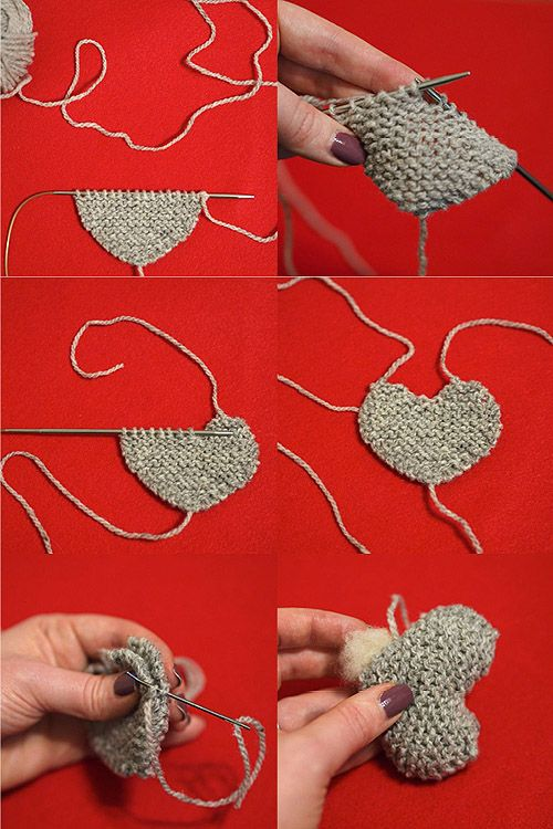 Step by Step Knitting DIY: Mary-Heather Cougar's Heart Pins! #valentines #knitting #diy