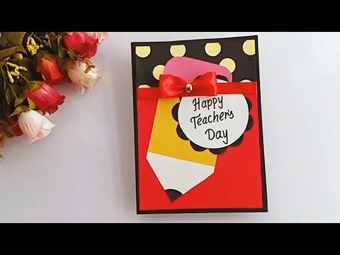 Diy Teacher S Day Card Handmade Teachers Day Card Making Idea Youtube Teachers Day Card Greeting Cards For Teachers Teachers Diy